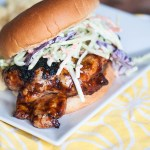BBQ Chicken Sandwiches with Broccoli Slaw