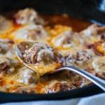 Baked Enchilada Meatballs