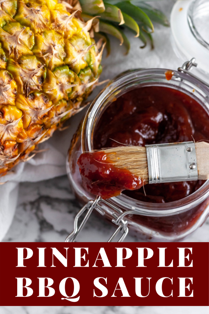 Pineapple BBQ Sauce is sweet, tangy and super simple to make. All you need is a handful of ingredients and less than 30 minutes for a thick, sweet sauce.