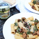 Rigatoni with broccoli rabe and sausage
