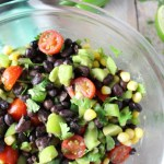Southwestern Easy Black Bean Salad