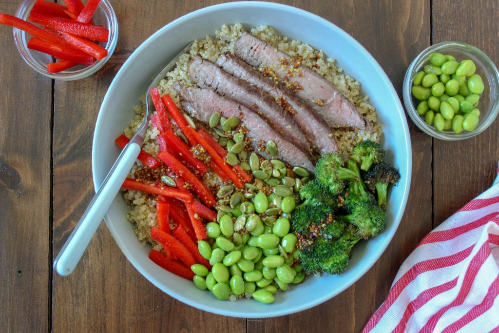 simple sirloin buddha bowl