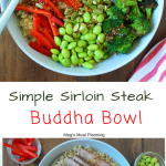 Simple Sirloin Steak Buddha Bowl