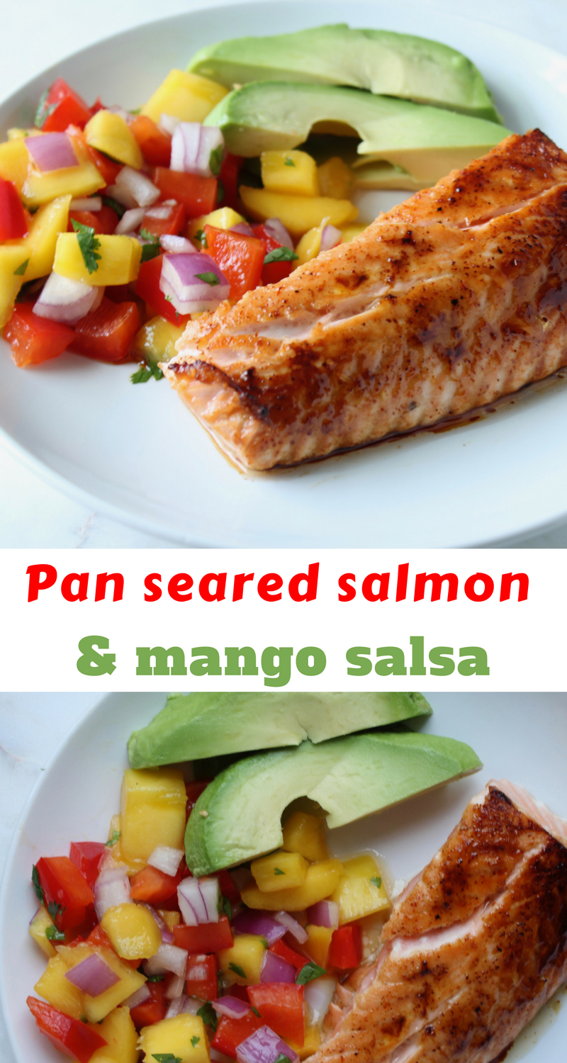 Healthy pan seared salmon