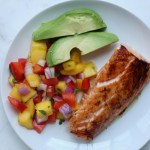 Healthy Pan Seared Salmon with Mango Salsa