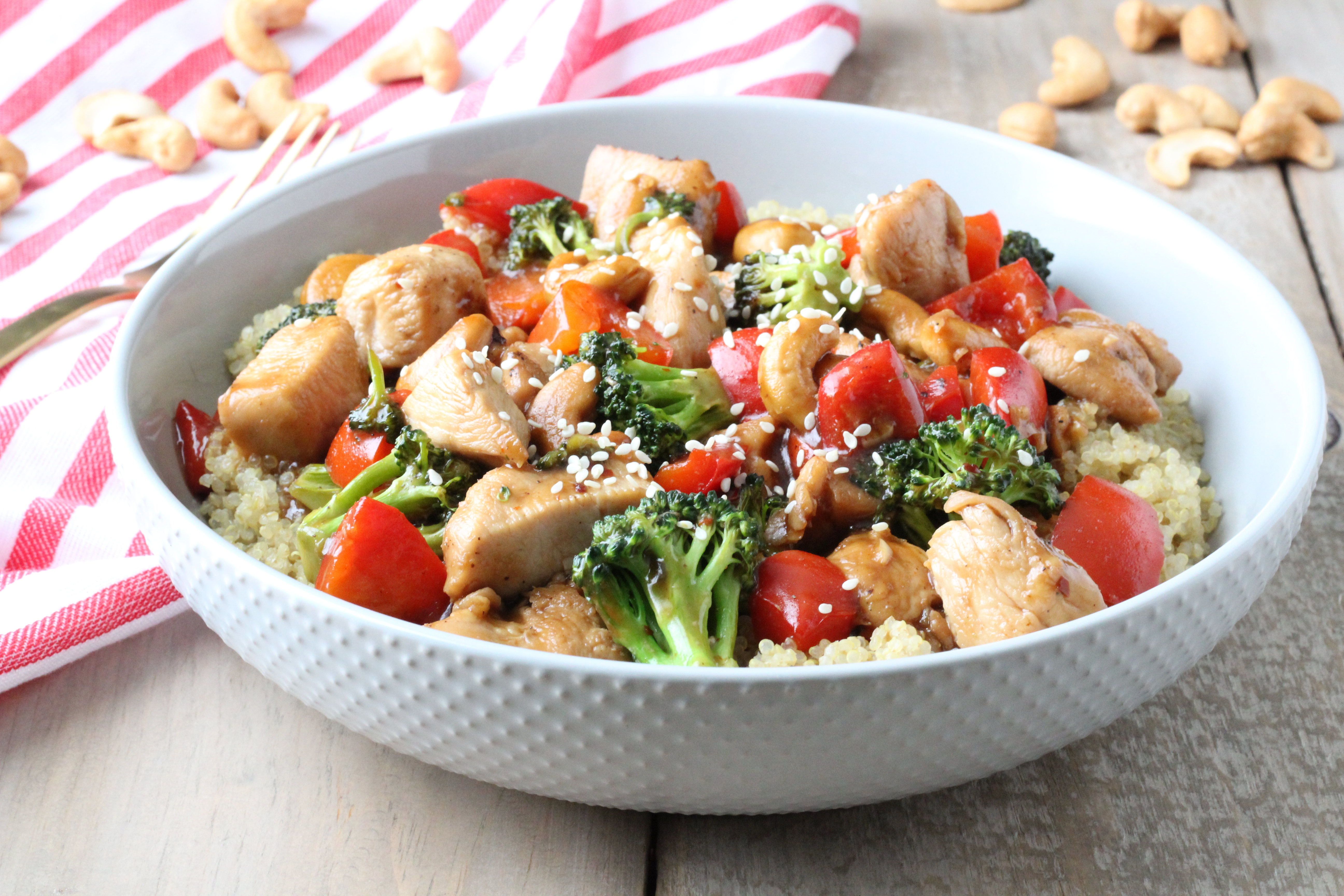cashew chicken stirfry