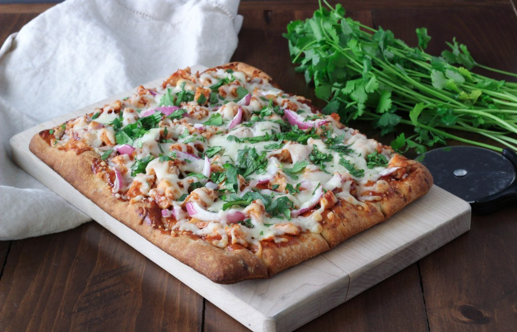 Easy BBQ chicken flatbread