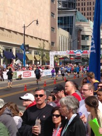 The finish line (from the spectators' perspective)