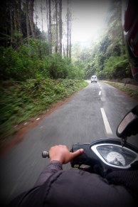 Riding by motorbike