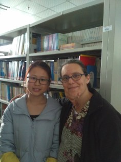 With Celina (陈林), a junior and winner in the Write On competition at the National and International level.