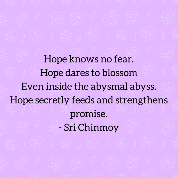 Sri Chinmoy quote on hope