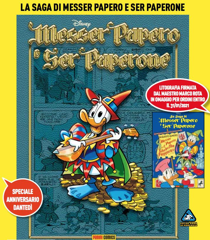 Disney La Saga di Messer Papero e di Ser Paperone, Speciale Anniversario Dantedì