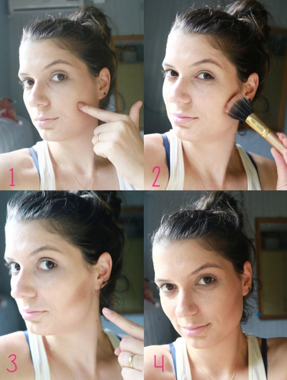 passo a passo aplicando bronzer 774x1024 - Fotorial: Contorno Fácil em 4 Passos