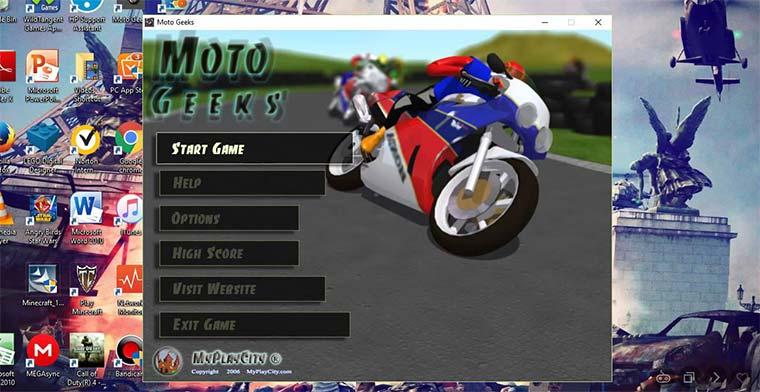 Moto Geeks, juego gratis para niños