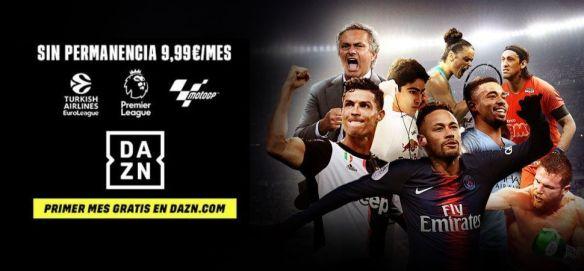 Partidos de fútbol gratis online con DAZN