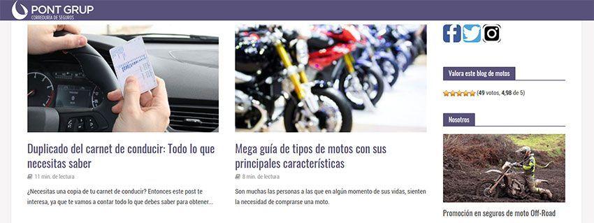 Blog de motos Pontgrup.com