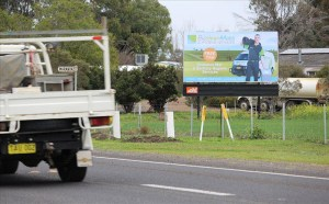 Roadside Billboards for Bizclean Mats & Hygiene
