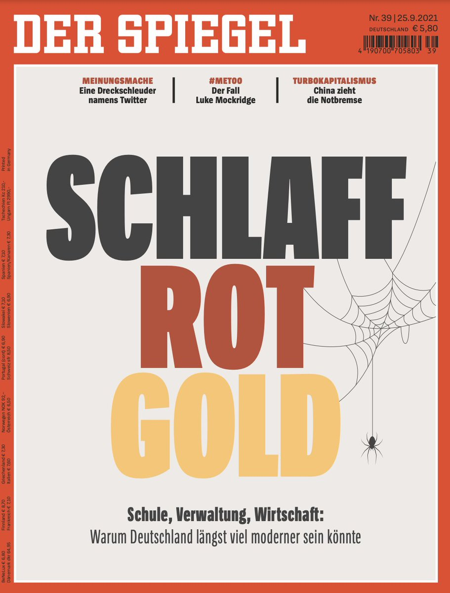 Good morning from #Germany, where SPIEGEL holds a swan song for the country. Germany has no