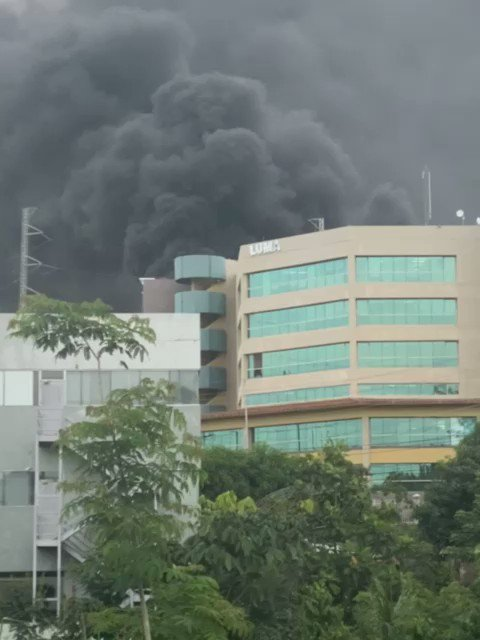 JUST IN - Blackout in Puerto Rico following an explosion and large fire at a San Juan power plant.