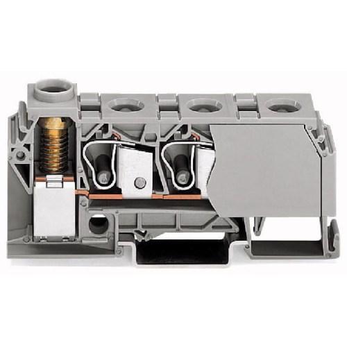 WAGO Distribuciona klema - 10 mm2 - Bočni slotovi za označavanje - za DIN-šinu 35 x 15 i 35 x 7.5 - 284-621