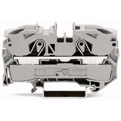WAGO Prolazna klema za 2 provodnika - Za provodnike 16 mm2 - Nominalna struja 76 A - Centralno i bočno označavanje - Za DIN-šinu 35 x 15 i 35 x 7.5 - 2016-1201