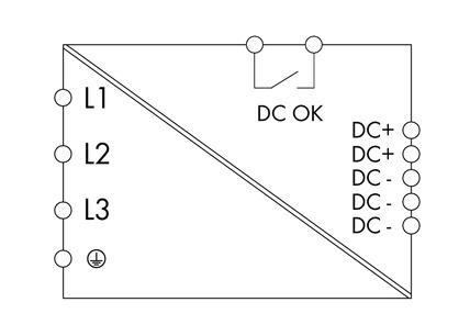 WAGO Svičersko (switched mode) napajanje - EPSITRON® ECO POWER - tro-fazno - 24 VDC / 10 A - DC OK kontakt - 787-740