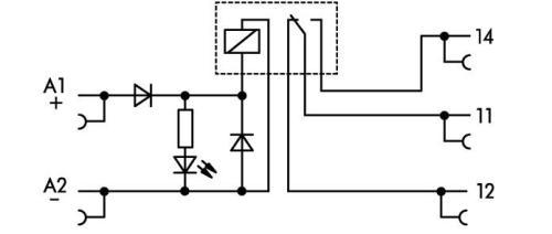 WAGO Priključni minijaturni prekidački rele sa postoljem - 1 preklopni kontakt - 24 VDC - 857-304