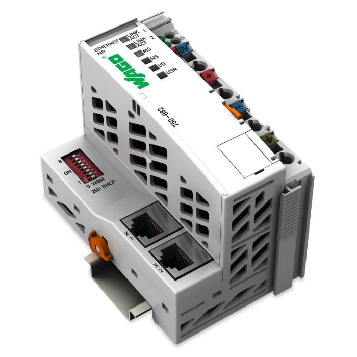 WAGO Kontroler Ethernet - 3-generacija - Media Redundancy protokol - 750-882