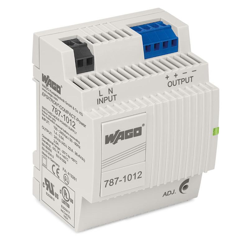 WAGO Svičersko (switched mode) napajanje - EPSITRON® COMPACT POWER - mono-fazno - 24 VDC - 2.5 A - 787-1012