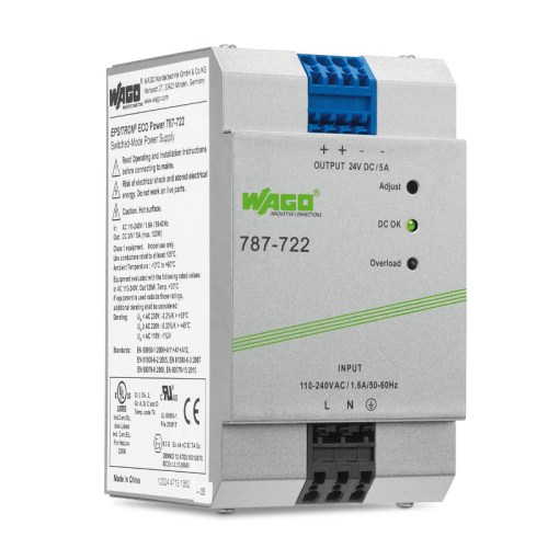 WAGO Svičersko (switched mode) napajanje - EPSITRON® ECO POWER - mono-fazno - 24 VDC - 5 A - 787-722