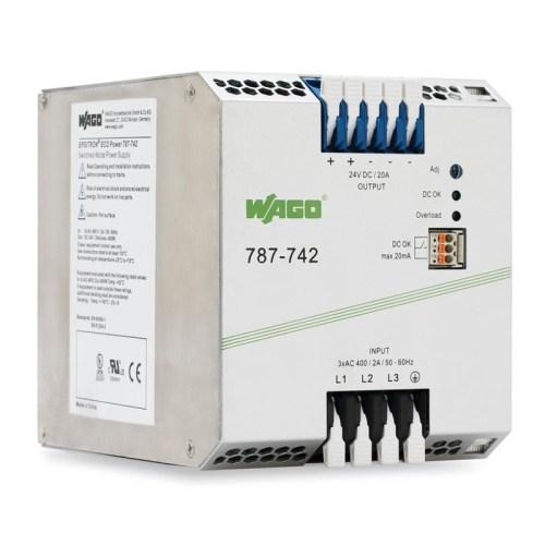 WAGO Svičersko (switched mode) napajanje - EPSITRON® ECO POWER - tro-fazno - 24 VDC - 20 A - DC OK kontakt - 787-742