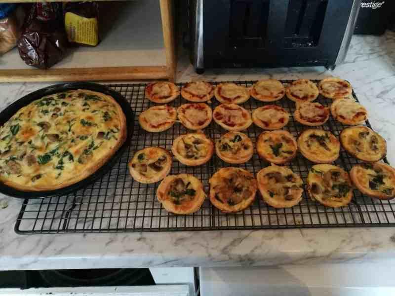 Spinach and Mushroom Mini Quiches