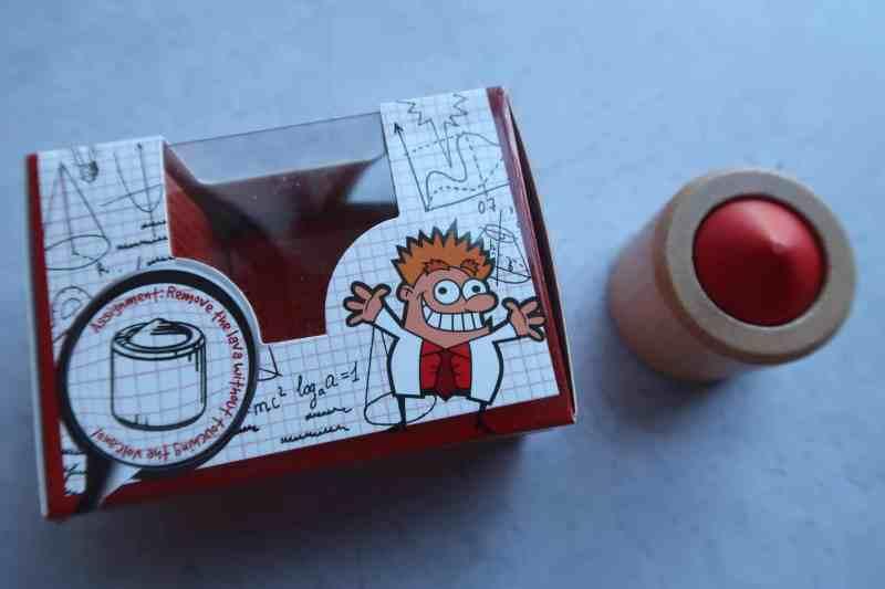 Volcano Puzzle - Wooden Brain Teaser