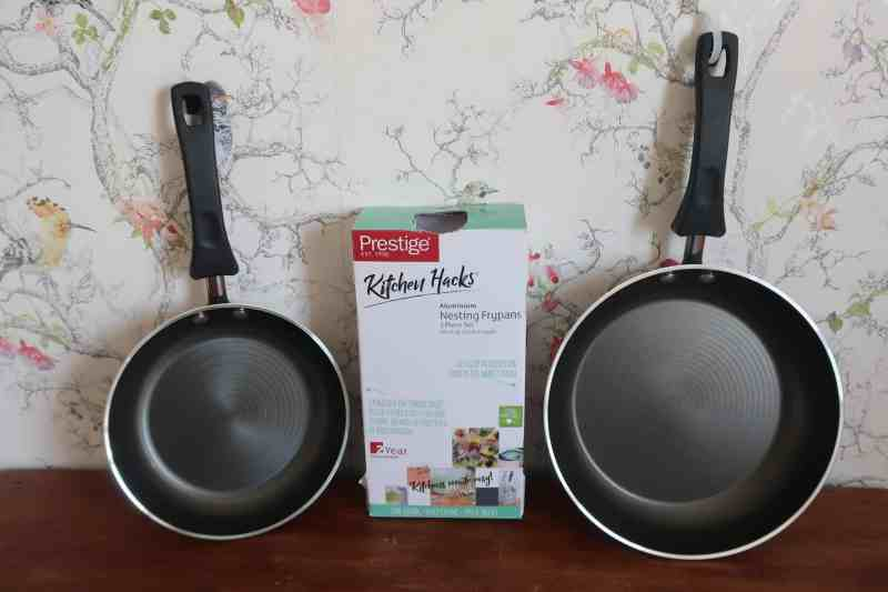 Prestige Kitchen Hacks Aluminium Nesting Frypans Twin Pack