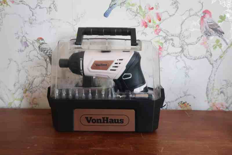 VonHaus Rose Gold Cordless Screwdriver & Bit Set