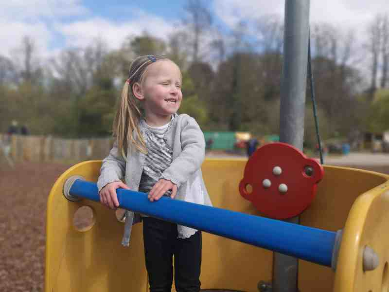 Erin at Holywells Park