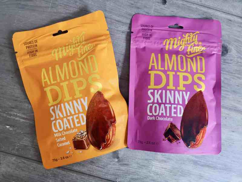 Mighty Fine's Skinny Coated Almond Dips