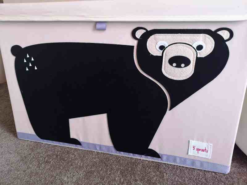 3 Sprouts Black Bear Storage Chest