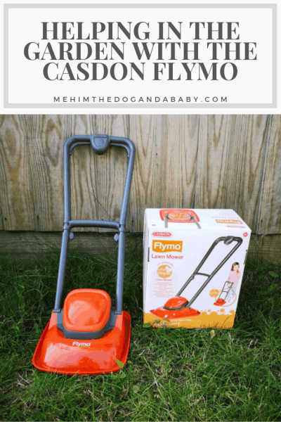 Helping In The Garden With The Casdon Flymo