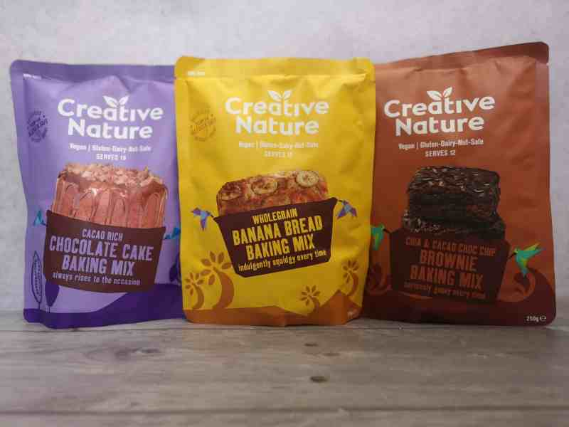 Baking mixes from Creative Nature