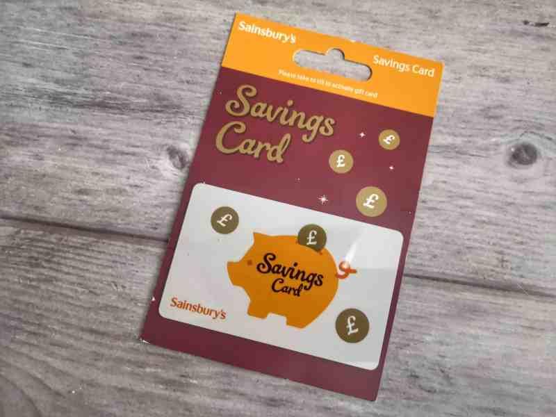 Sainsbury's savings card