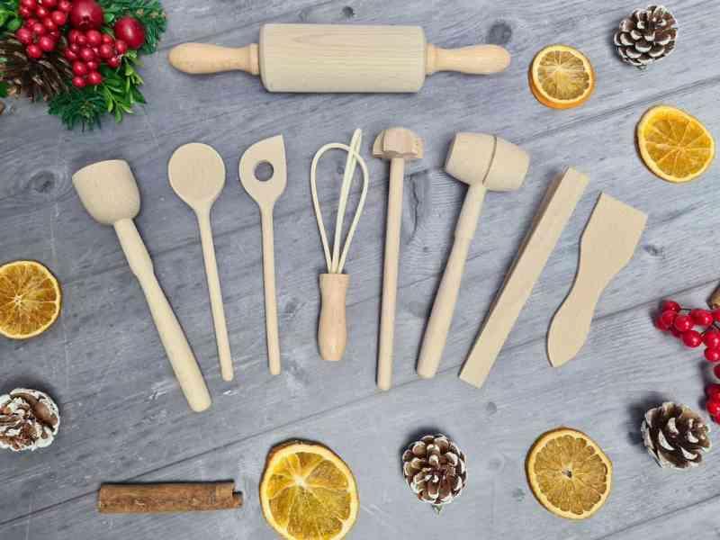 Sous Chef Children's Mini Wooden Kitchen Utensil Set