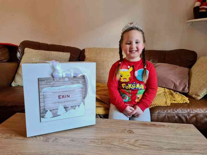 Erin with Christmas Eve Box