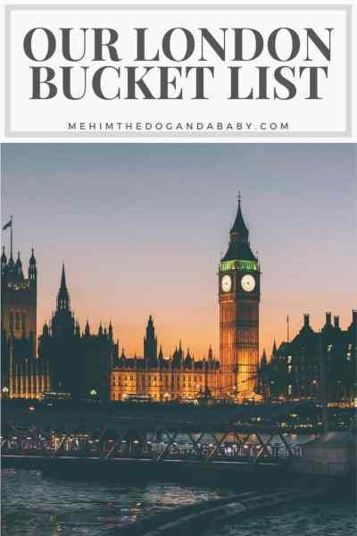 Our London Bucket List Pinterest