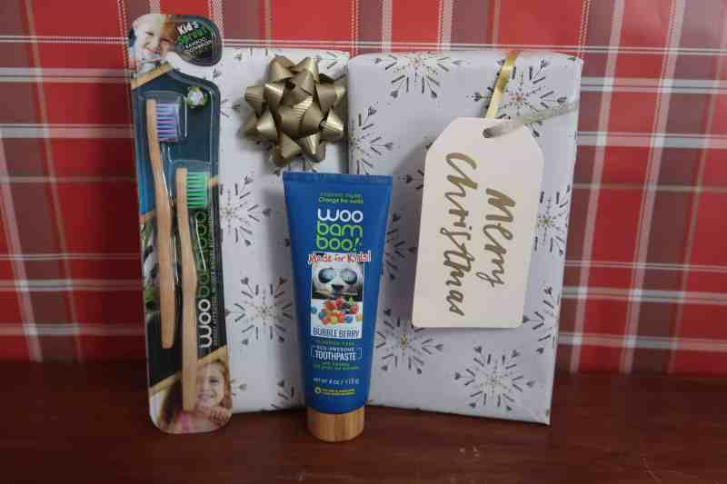 Woobamboo children's toothbrush and toothpaste