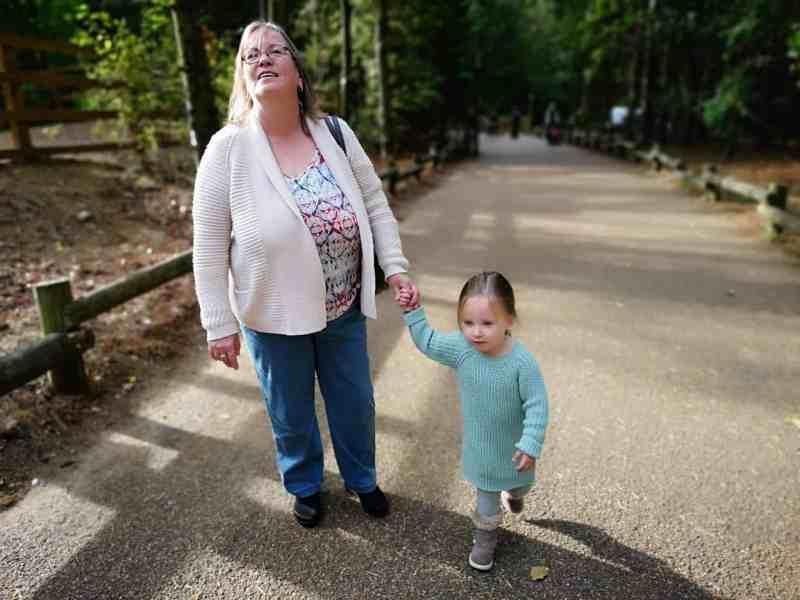 Grandma and Erin exploring