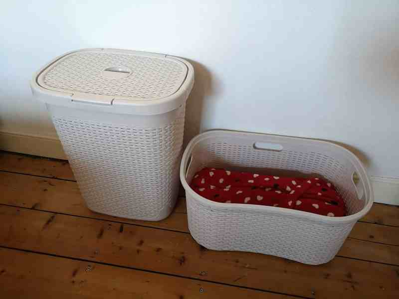 rattan effect laundry basket and hamper