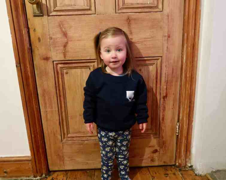 Erin's first day at nursery