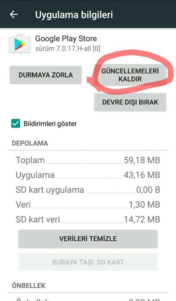 google play store türkçe yapma