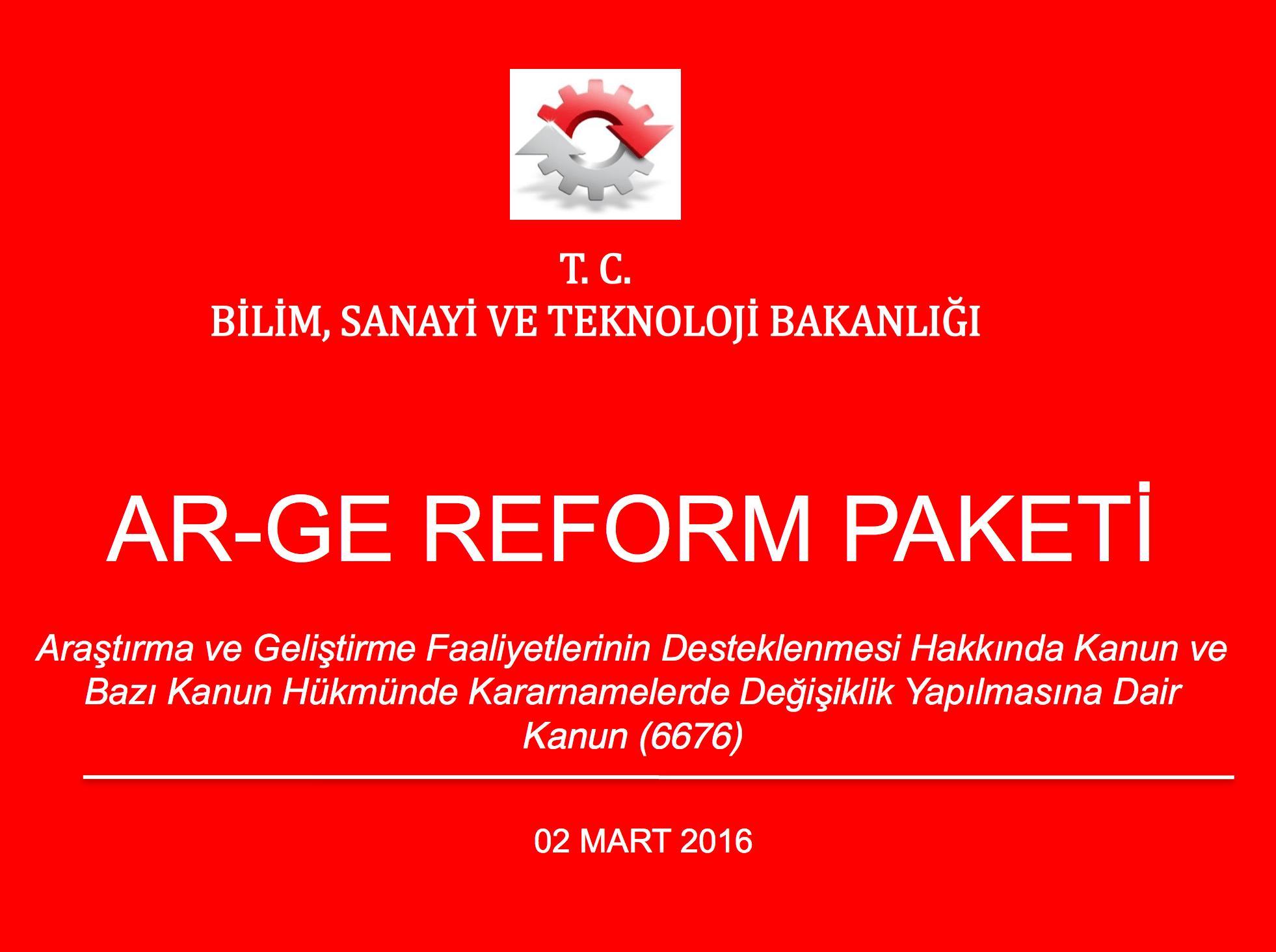 AR-GE REFORM PAKETİ